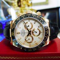 Rolex Daytona 18k Rose Gold Cosmograph Black Leather Ref:...