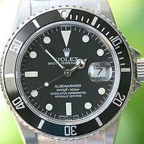 Rolex Submariner Stainless Steel 16800 40mm Black Dial Bezel...