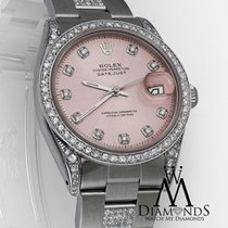 Rolex Diamond Rolex Datejust 16200 36mm Pink Diamond Dial -...