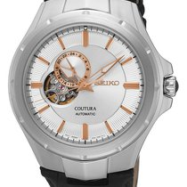 Seiko Mens Coutura Open Heart Automatic - Stainless - Black...