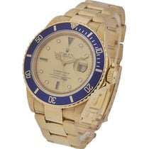 Rolex Used Submariner All Gold with Champagne Diamond Dial 16