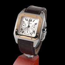 Cartier SANTOS 100 STEEL AND GOLD CHRONOGRAPH