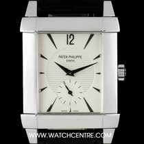 Patek Philippe 18k White Gold Silver Dial Gondolo Gents 5111G