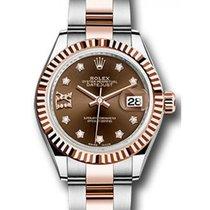 Rolex Datejust 28 279171 Chocolate Diamond Roman 9 o'...