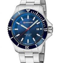 Wenger Sea Force Mens Dive Watch - Blue Dial - Bracelet - 200m...