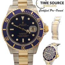 Rolex Submariner Auto Blue Two Tone 16613 No Holes 04 Watch