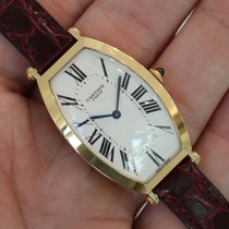 "Cartier ""privee Collection"" Tonneau 18k Yellow Gold..."