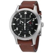Aerowatch The Grand Classics Pilot Chronograph Black Dial...