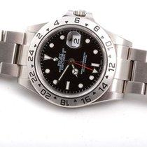 Rolex Mens Stainless Steel Explorer II - Black Dial - 16570