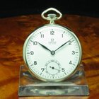 Omega 800 Silber Open Face Taschenuhr Von Ca. 1937 / Kaliber...