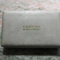 Certina vintage watch boxeswhite leather very rare