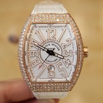 Franck Muller V 45 SC DT Rose Gold After Market Diamond Watch