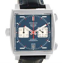 TAG Heuer Monaco Automatic Chronograph Mens Watch Caw211p Box...