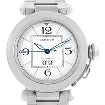 Cartier Pasha C Midsize Steel Watch White Dial Watch W31044m7