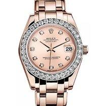 Rolex Pearlmaster 34 81285 Pink Diamond Markers & Bezel...