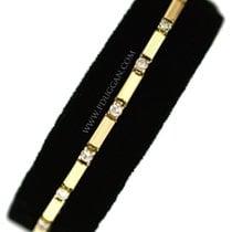 14k yellow gold ladies diamond bracelet. 1 cttw.