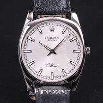Rolex Cellini Danaos Silver Dial White Gold