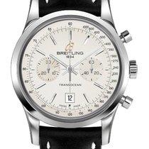 Breitling Transocean Chronograph 38 · Black Sahara 428X...