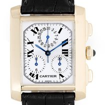 Cartier Tank Francaise Chronograph Men's 18k Gold Watch...