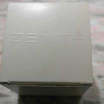 Zenith vintage watch box brown plastic cube