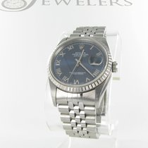 Rolex SS  Rolex Datejust with Blue Roman Dial & Papers