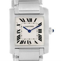 Cartier Tank Francaise Midsize Silver Dial Steel Ladies Watch...