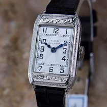 Elgin Rare 1920s Ladies White Gold Plated Luxury Mechanical...
