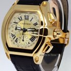 Cartier Roadster Chronograph 18k Yellow Gold Mens Automatic...
