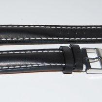 Breitling Kalbslederband mit Dornschließe Schwarz  20 -18 mm