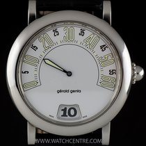 Gérald Genta Stainless Steel White Dial Retrograde Jump Hour...