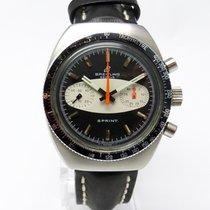 Breitling SPRINT 2214 Edelstahl Chronograph Kal. Valjoux 7733...