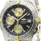Breitling Chronomat 18k Gold Steel Automatic Watch B13352...