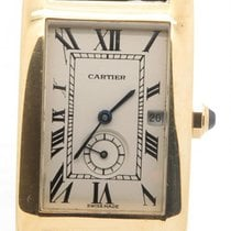 Cartier Tank Americaine Solid 18k Yellow Gold W/ Deployment...