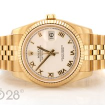 Rolex Datejust 116238 Gold Jubilée White Roman Dial Full Set 2014