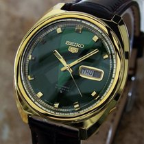Seiko 5 Rare 6119 8340 Vintage Japanese Automatic Gold Plated...