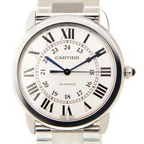 Cartier Ronde Solo De Cartier Stainless Steel White Automatic...