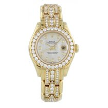 Rolex Ladies Rolex Oyster Perpetual Datejust Pearlmaster 69298