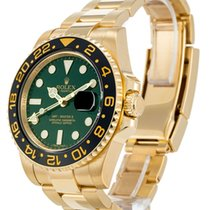 "Rolex GMT Master II Yellow Gold ""D"" Green Dial"