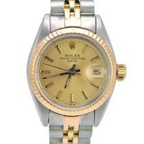 Rolex Ladies Datejust 18k Fluted Bezel Jubilee
