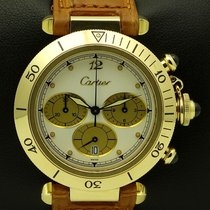 Cartier Pasha Chrono 18 kt yellow gold, full set