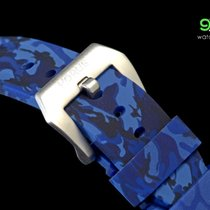 Panerai Horus Blue Camouflage Rubber Straps With Brushed...
