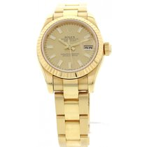 Rolex Ladies Rolex Datejust 18K Yellow Gold Watch 179178