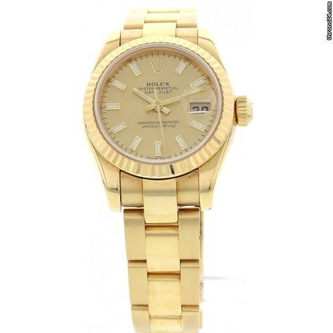 rolex rolex datejust 18k yellow gold 179178