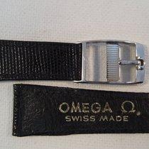 Omega 19mm lizard black Omega strap, 14 mm steel Omega buckle