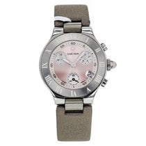 Cartier 21 Chronoscaph Small 2996 Stainless Steel Pink Dial...