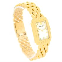 Patek Philippe Gondolo Ladies 18k Yellow Gold Quartz Watch 4824