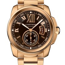Cartier Calibre De Cartier 18k Rose Gold Brown Dial W7100040