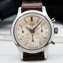 Heuer 2444 Vintage Pre-Carrera Valjoux 72 Chronograph SS (24212)