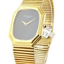 Patek Philippe Mens Rectangular Octagonal Bracelet Watch Circa...