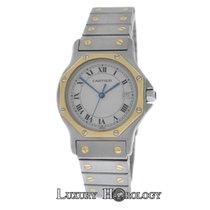 Cartier Ladies Santos Octagon 187902 Steel 18K Gold Date Qua